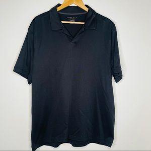 Perry Ellis Men's Open Neck Black Golf Shirt XXL